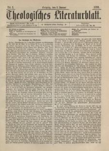 Theologisches Literaturblatt, 2. Januar 1891, Nr 1.