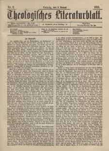 Theologisches Literaturblatt, 9. Januar 1891, Nr 2.
