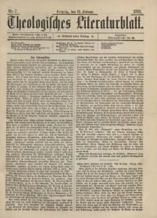 Theologisches Literaturblatt, 13. Februar 1891, Nr 7.