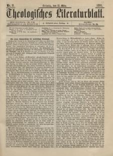 Theologisches Literaturblatt, 13. März 1891, Nr 11.