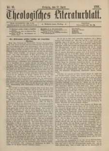 Theologisches Literaturblatt, 17. April 1891, Nr 16.