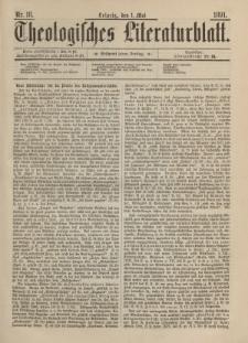 Theologisches Literaturblatt, 1. Mai 1891, Nr 18.