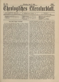 Theologisches Literaturblatt, 17. Juli 1891, Nr 29.