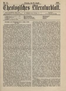 Theologisches Literaturblatt, 28. August 1891, Nr 35.