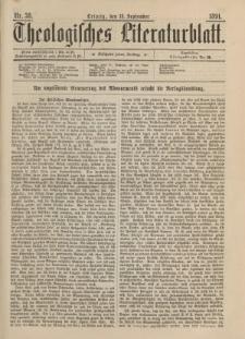 Theologisches Literaturblatt, 18. September 1891, Nr 38.
