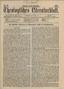 Theologisches Literaturblatt, 25. September 1891, Nr 39.