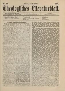 Theologisches Literaturblatt, 2. Oktober 1891, Nr 40.