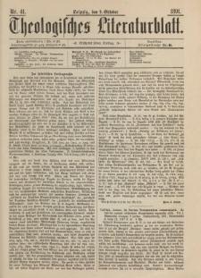 Theologisches Literaturblatt, 9. Oktober 1891, Nr 41.