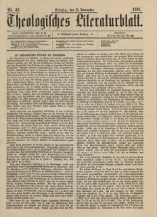 Theologisches Literaturblatt, 13. November 1891, Nr 46.