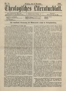 Theologisches Literaturblatt, 18. Dezember 1891, Nr 51.