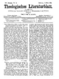 Theologisches Literaturblatt, 17. März 1899, Nr 11.
