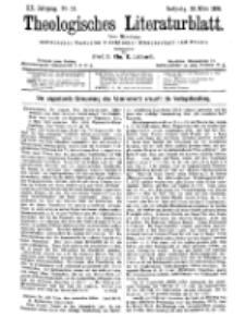 Theologisches Literaturblatt, 24. März 1899, Nr 12.