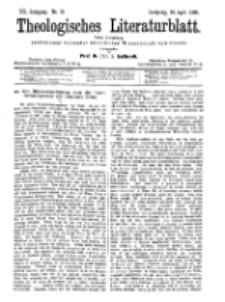 Theologisches Literaturblatt, 14. April 1899, Nr 15.