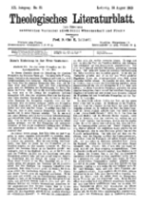 Theologisches Literaturblatt, 18. August 1899, Nr 33.