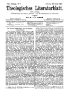 Theologisches Literaturblatt, 26. Januar 1900, Nr 4.