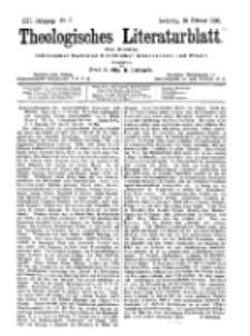 Theologisches Literaturblatt, 16. Februar 1900, Nr 7.