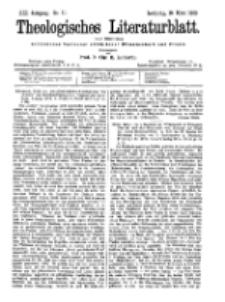 Theologisches Literaturblatt, 16. März 1900, Nr 11.