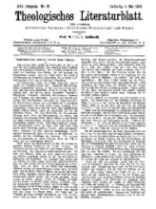 Theologisches Literaturblatt, 4. Mai 1900, Nr 18.