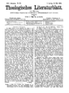 Theologisches Literaturblatt, 18. Mai 1900, Nr 20.