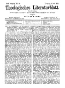 Theologisches Literaturblatt, 1. Juni 1900, Nr 22.