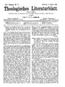 Theologisches Literaturblatt, 3. August 1900, Nr 31.