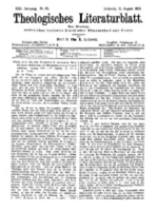 Theologisches Literaturblatt, 31. August 1900, Nr 35.
