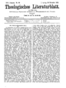 Theologisches Literaturblatt, 30. November 1900, Nr 48.