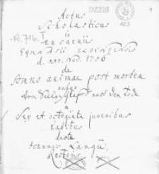 Actus scholasticus in encaeniss Gymn[asii] Elbing[ensis] XXV Nov. 1756