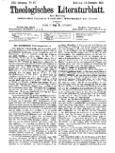 Theologisches Literaturblatt, 14. Dezember 1900, Nr 50.