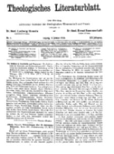 Theologisches Literaturblatt, 2. Januar 1931, Nr 1.