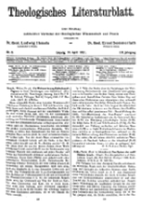 Theologisches Literaturblatt, 10. April 1931, Nr 8.