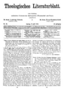 Theologisches Literaturblatt, 31. Juli 1931, Nr 16.