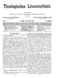 Theologisches Literaturblatt, 25. September 1931, Nr 20.