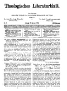 Theologisches Literaturblatt, 29. Januar 1932, Nr 3.
