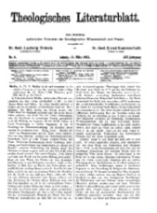Theologisches Literaturblatt, 11. März 1932, Nr 6.