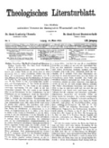 Theologisches Literaturblatt, 25. März 1932, Nr 7.