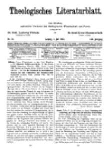 Theologisches Literaturblatt, 1. Juli 1932, Nr 14.