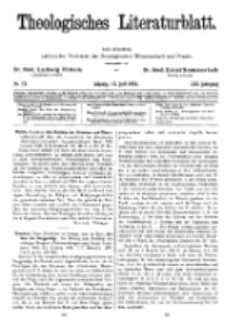 Theologisches Literaturblatt, 15. Juli 1932, Nr 15.