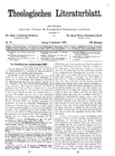 Theologisches Literaturblatt, 9. September 1932, Nr 19.