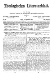 Theologisches Literaturblatt, 23. September 1932, Nr 20.