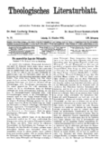 Theologisches Literaturblatt, 21. Oktober 1932, Nr 22.