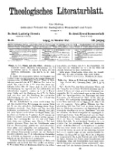 Theologisches Literaturblatt, 16. Dezember 1932, Nr 26.