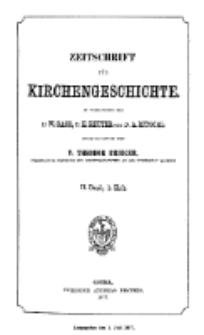 Zeitschrift für Kirchengeschichte, 1877, Bd. 2, H. 1.