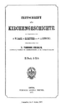 Zeitschrift für Kirchengeschichte, 1877, Bd. 2, H. 2.