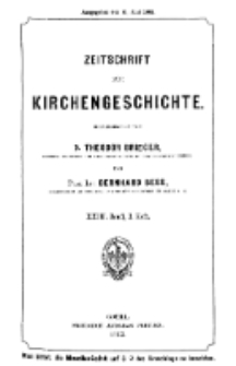 Zeitschrift für Kirchengeschichte, 1902, Bd. 23, H. 2.