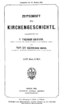 Zeitschrift für Kirchengeschichte, 1905, Bd. 26, H. 3.