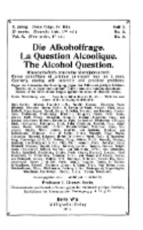 Die Alkoholfrage, 1914, Jg. X, H. 2