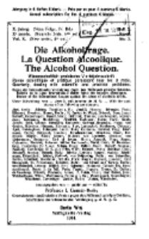 Die Alkoholfrage, 1914, Jg. X, H. 3