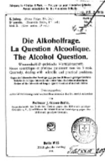 Die Alkoholfrage, 1914, Jg. X, H. 4