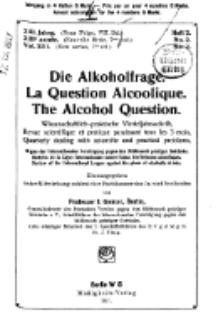 Die Alkoholfrage, 1917, Jg. XIII, H. 2